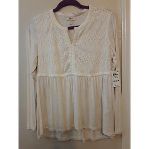 Style & co babydoll top